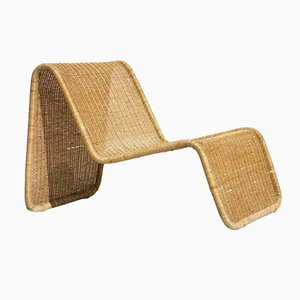 P3 Rattan Wicker Chair by Tito Agnoli for Bonacina, 1960s