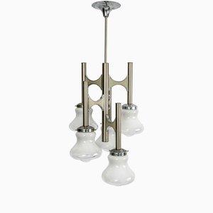 Lámpara de araña italiana vintage de Gaetano Sciolari, años 60