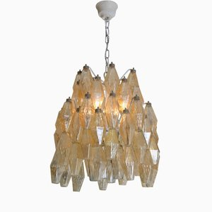 Polyhedral Chandelier by Carlo Scarpa for Venini, 1940s