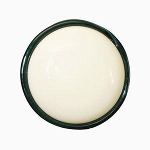 Vintage Milchglas Decken- oder Wandlampe von Venini, 1960er