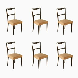 Vintage Italian Dining Chairs by Paolo Buffa, 1950s, Set of 6
