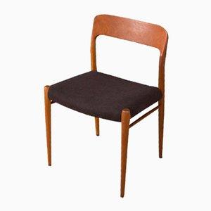 Sedia nr. 75 di Niels O. Møller per J.L. Møllers, anni '50