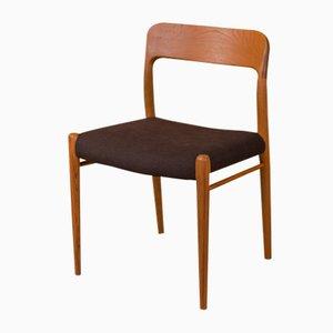 Modell 75 Stuhl von Niels O. Møller für J.L. Møllers, 1950er