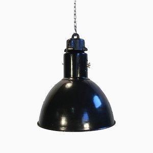 Lampe à Suspension Bauhaus Industrielle Émaillée, 1930s