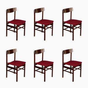Palisander Esszimmerstühle von Fratelli Reguitti, 6er Set