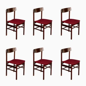 Rosewood Dining Chairs from Fratelli Reguitti, Set of 6