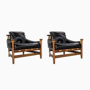 Mid-Century Palisander & Leder Bertioga Stühle von Jean Gillon für Italma Holz Art, 1960er, 2er Set