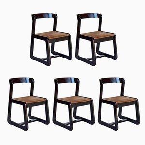 Esszimmerstühle von Mario Sabot, 1960er, 5er Set