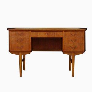 Mid-Century Teak Furnier Schreibtisch