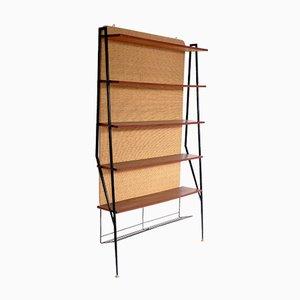 Italian Metal & Brass Shelves, 1960s