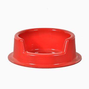 Recipiente para comida para perros rojo de Michael Young para Danese, años 70