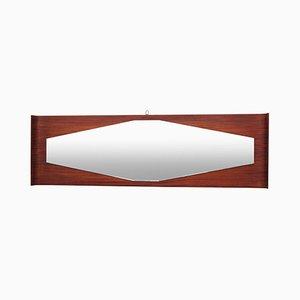 Espejo italiano octogonal de palisandro, años 50