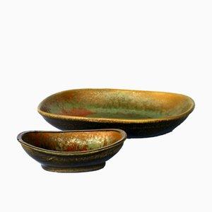 Cuencos de cerámica de Alessio Tasca, años 70. Juego de 2