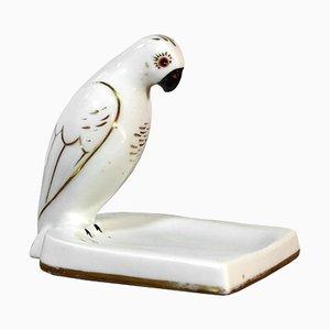 Posacenere vintage in ceramica con pappagallo di Robj