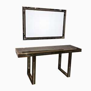 Console Table & Mirror Set by Romeo Rega, 1970s