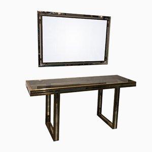 Consolle con specchio di Romeo Rega, anni '70