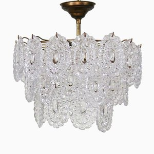 Mid-Century Glass Chandelier from Mazzega, 1970s
