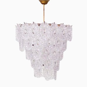 Large Glass Chandelier from Mazzega, 1960s