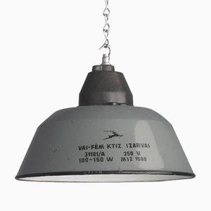 Lampe à Suspension d'Usine, Hongrie, 1940s