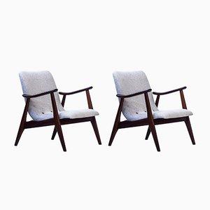 Dutch Lounge Chairs by Louis van Teeffelen for WéBé, 1950s, Set of 2