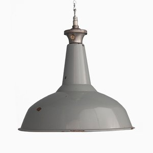 Industrial Enamel Pendant Light from Benjamin, 1950s
