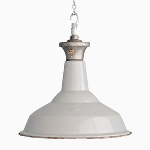 Lampe à Suspension Émaillée de Benjamin, 1950s