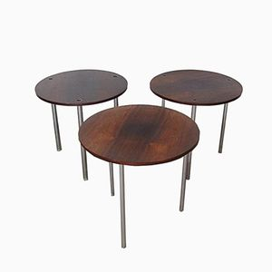 Circular Nesting Tables in Rosewood by Poul Nørreklit for Petersen