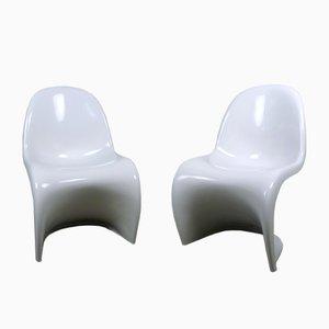 Weiße Panton Sessel von Verner Panton für Fehlbaum, 1971, 2er Set