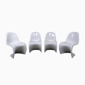 Weiße Panton Sessel von Verner Panton für Vitra, 1971, 4er Set