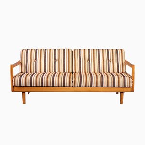 Extendable Oak Daybed or Sofa, 1960s