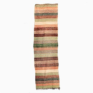 Vintage Handmade Mixed Color Cotton Wool Runner