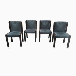 Italian Mahogany Chairs, 1970s, Set of 4
