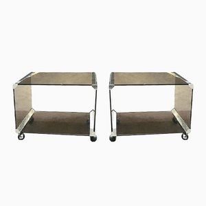 Italian Bar Carts by Gallotti & Radice, 1970s, Set of 2