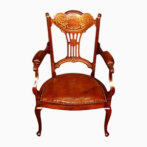Englischer Armlehnstuhl aus 19. Jh.