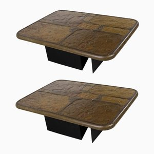 Brutalist Coffee Tables by Paul Kingma, 1994, Set of 2