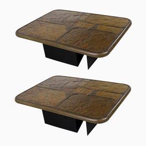 Tavolini da caffè brutalisti di Paul Kingma, 1994, set di 2
