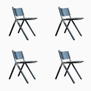 Nodo Stühle von Mauro Pasquinelli für Tisettanta, 1976, 4er Set