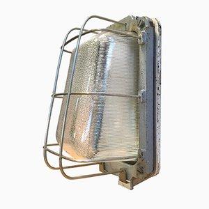 Lampada da parete vintage in ferro battuto