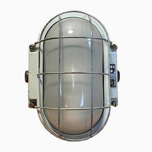 Industrial Cast Aluminium Wall Lamp, 1960s