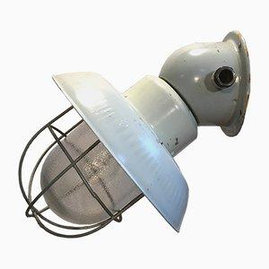 Industrielle Aluminium Wandlampe, 1960er