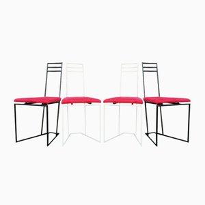 Niederländische Stühle in Schwarz & Weiß, 1960er, 4er Set