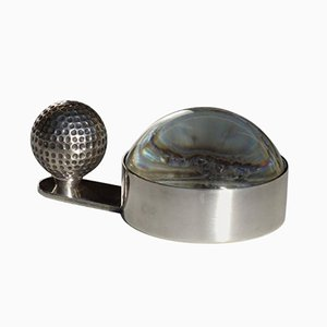Silberne Golfball Lupe von Hermes, 1980er