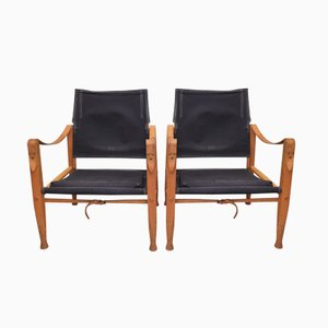 Vintage Safari Chairs by Kaare Klint for Rud. Rasmussen, Set of 2