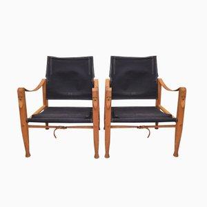 Vintage Safari Stühle von Kaare Klint für Rud. Rasmussen, 2er Set