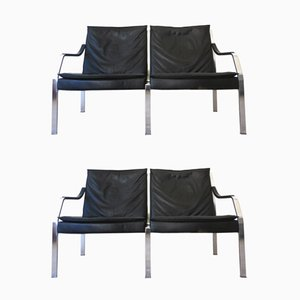 Divani a due posti Art Collection di Preben Fabricius & Jorgen Kastholm per Walter Knoll, anni '70, set di 2