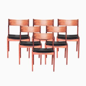 Chaises de Salle à Manger par Kai Kristiansen pour Korup Stolefabrik, Danemark, 1960s, Set de 8