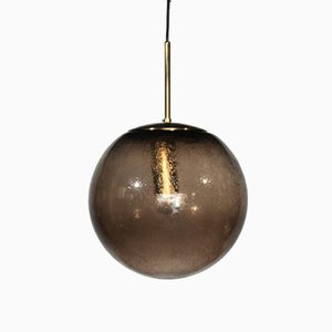 Mid-Century Glass and Brass Globe Pendant Light from Raak, 1960s