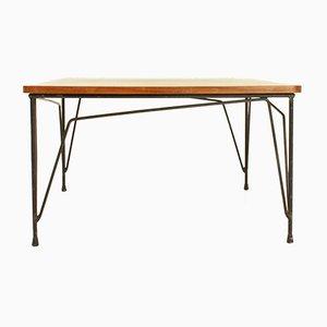 Tavolino da caffè quadrato in teak di Cerutti, anni '50