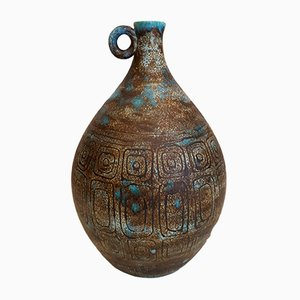 Bulbous Ceramic Vase by P. Barat, 1950s