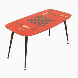 Tavolino da caffè laminato rosso, Italia, anni '50